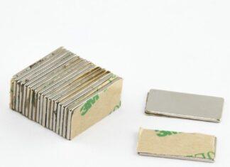 magnesy neodymowe płytkowe z klejem